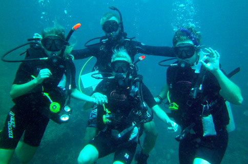 diving thailand padi course discover scuba diving kon-tiki