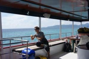 Kon-Tiki Trainee on boat