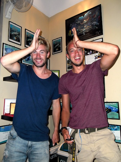 Christoffer and Olle Kon-Tiki Krabi project AWARE finathon