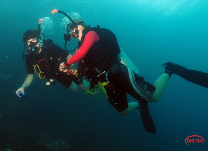 Kon-Tiki Krabi divers doing try dives phi PHi islands