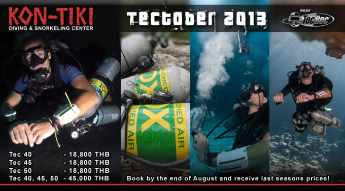 tectober 2013 technical diving thailand special prices