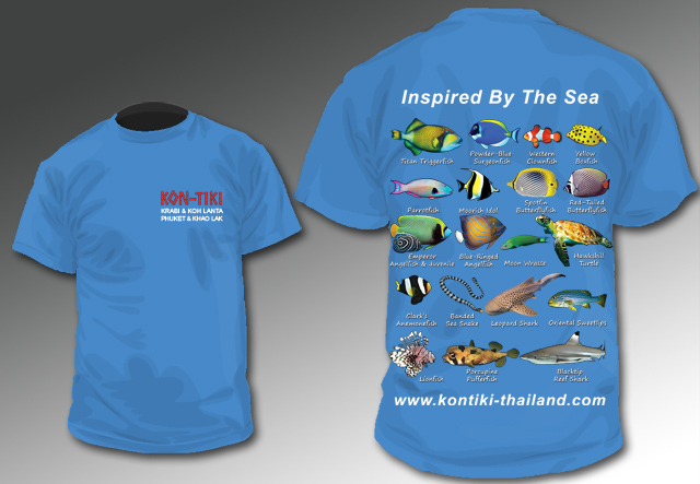 Fish ID T-shirt diving thailand Kon-Tiki